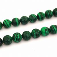 Malachite Round Beads 4mm 16 Inch